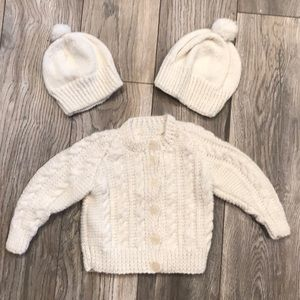 Other - Custom sweater with matching hats